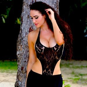 One swimsuit black and gold